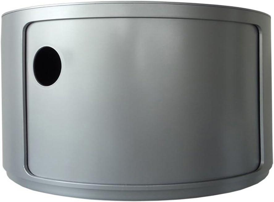 Kartell 4953SI baukastenelement qu/él/ément rond diam/ètre 42 x 23,5 cm-aBS argent/é