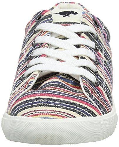 Lace Plimsolls Women's Flat Canvas Natural Dog Campo Rocket up 5Xx0Oqw