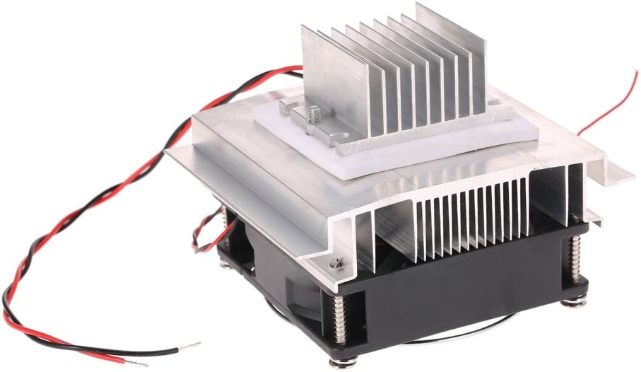 Leepesx DIY Thermoelectric Peltier Refrigeration Cooling System Kit Semiconductor Cooler Conduction Module TEC1-12706 Radiator Fan