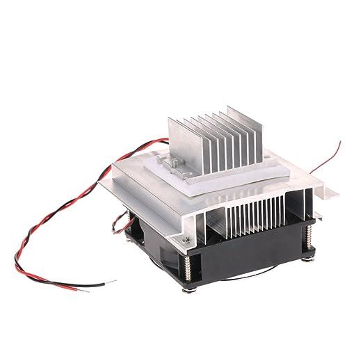 KKmoon DIY Kit Potencia termoeléctrico Peltier Enfriador Refrigeración Sistema de refrigeración Enfriador SFPLUSES18 Módulo + Ventilador + TEC1 – 12706 .