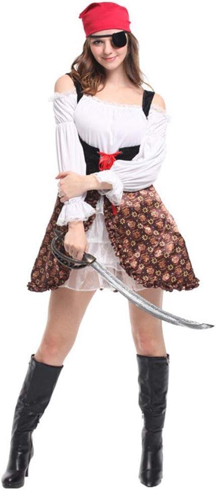CAGYMJ Cosplay Dress Party Mujer Vestido,Capitán Pirata Falda ...