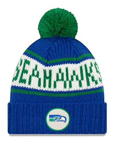 New Era Seattle Seahawks NFL 9Twenty Historic Retro Patch Cuffed Knit ()