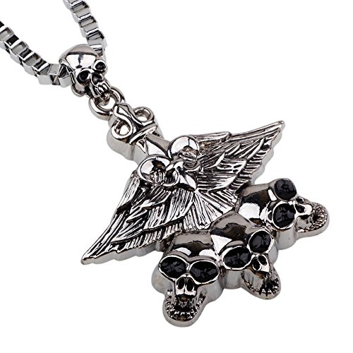 Wire Spray Collar Necklace (Winter's Secret Europe and America Style Devil May Cry Necklace Multi Skull Hip Hop Men 22.44