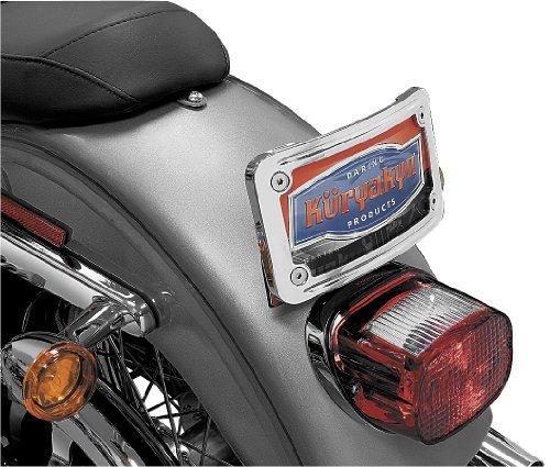 Kuryakyn Curved Tip-Back License Plate Frame - Chrome (Frame Curved Plate Kuryakyn License)