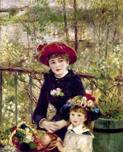 Posterazzi Two Sisters (On the Terrace) 1881 Pierre Auguste Renoir (1841-1919 French) Oil on canvas Art Institute of Chicage Illinois USA Poster Print (18 x ()