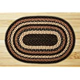 Capitol Earth Rugs 03-313 Mocha-Frappuccino Jute Braided Rug