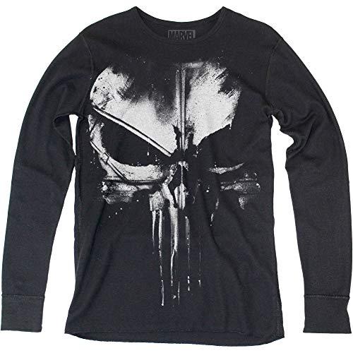 b3fc908c7 Impact Daredevil Distressed Punisher Adult Thermal Long Sleeve T-Shirt Tee  Black - Buy Online in UAE.