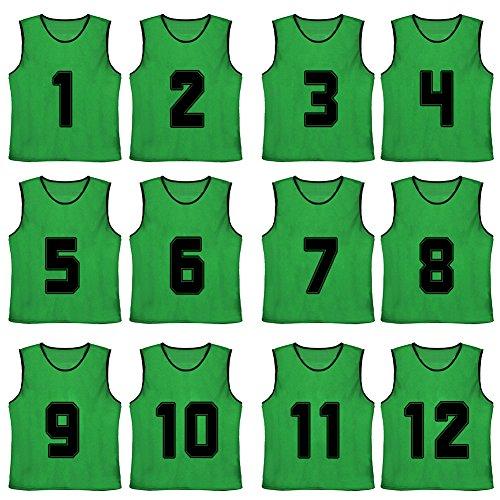 TopTie Numbered Scrimmage Team Practice Mesh Jerseys Vest...
