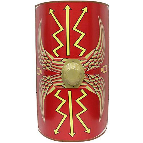 (Swordsaxe Full Size Roman Augustan Scutum Shield - 42 Inches Tall Life Sized)