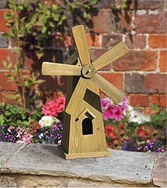 Garten Mile/® Heavy Duty freistehend aus rustikalem Holz Garten Windm/ühle mit beweglichen Teilen Garden Ornaments Large