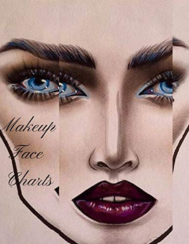 Makeup Face Charts: The Cute Professional Blank Paper for sale  Delivered anywhere in Canada