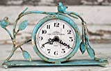Excellent Weathered Songbird Mantel Clock