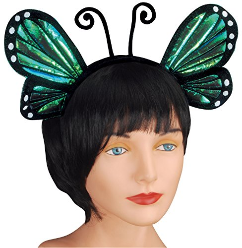 Loftus International Butterfly Antenna with Wing Headband, Blue, One -