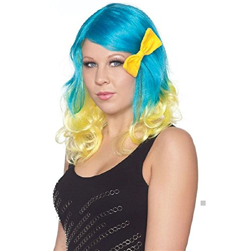 Sweet Tooth Comic Costume (2Tone Sweetheart Wig with Bow Costume Accessory Adult Halloween)