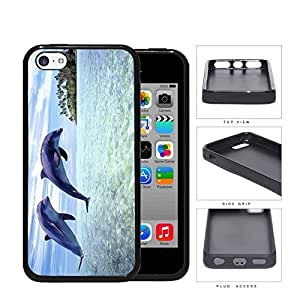 Dolphins Swimming In Ocean Island View Rubber Silicone TPU Cell Phone Case Apple iPhone 5c