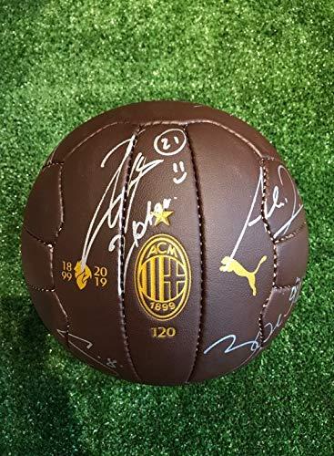 Maestri del Fútbol Balón Puma 120 años autografiado A.C. Milan ...