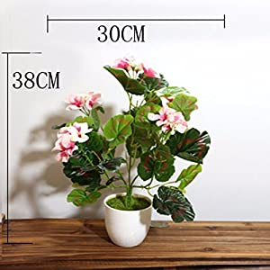 LighSCH Artificial Flowers Fake Bouquet Plastic Flower Fence Begonia Pink 7