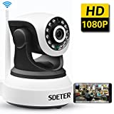 SDETER IP Camera 1080P HD Wireless -Security Camera with PTZ ,Two-way Audio, Night Vision, home security camera system Motion Detection Indoor Camera
