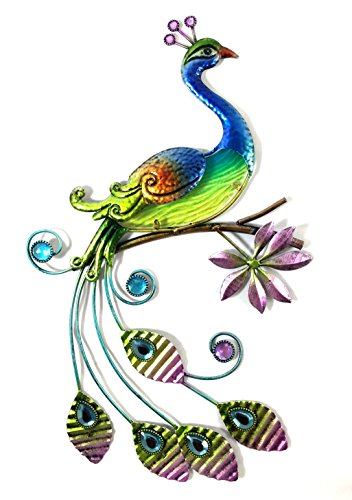 Bejeweled Display® Peacock w/ Glass