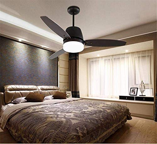Oudan Ceiling Fan to Parliament The Retro Style Simple Fan Lounge Chandelier Restaurant Wood Remote Control Home of The Break-Down of The Lights, Leaves B (Color : B)