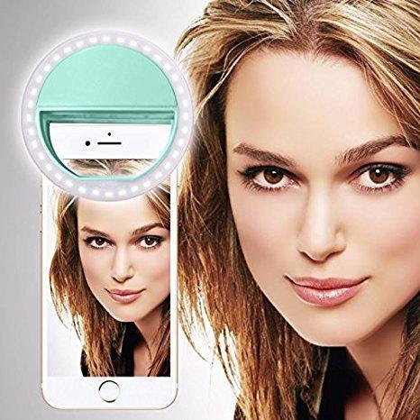 UMi Z (Baby-Rosa) Klipp auf Selfie Ring-Licht [Große Fotografie] mit 36 ??LED für intelligentes Telefon Kamera runder Form, durch I-Tronixs Selfie Light Ring (Light Green)