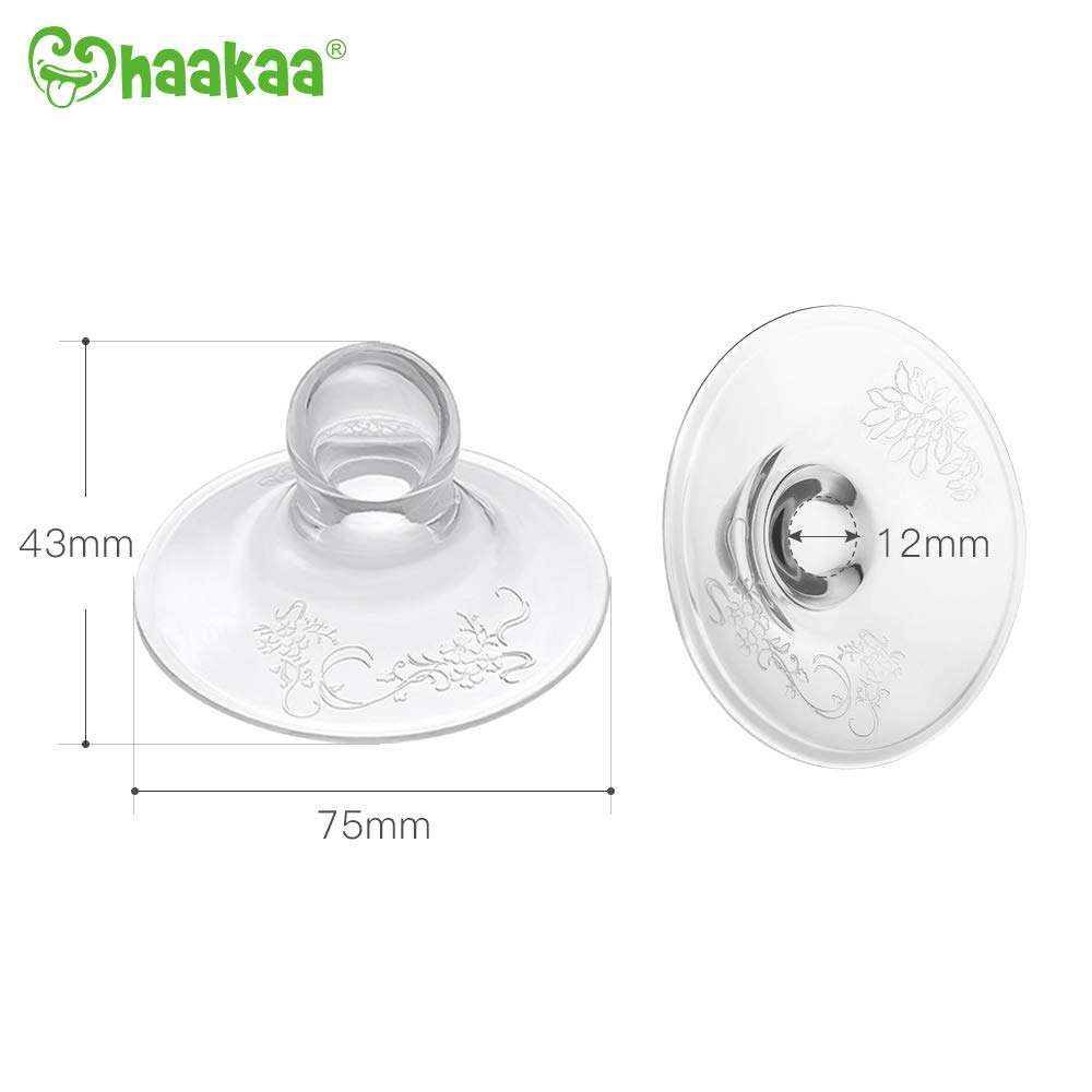 Haakaa Silicone Nipple Corrector Stronger/Suction for Flat and Inverted Nipples BPA PVC and Phthalate Free
