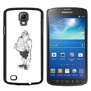 Caucho caso de Shell duro de la cubierta de accesorios de protecciš®n BY RAYDREAMMM - Samsung Galaxy S4 Active i9295 - Piernas Aristocrat Hombre dibujo a lš¢piz el dibujo del arte