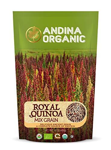 (Andina Organic Quinoa | Mixed Grain Quinoa Organic | Pre washed non GMO Gluten Free Certified Royal Quinoa Organic | Protein Rich Whole Grain Puffed Quinoa | Perfect White Rice Substitute (14 oz))