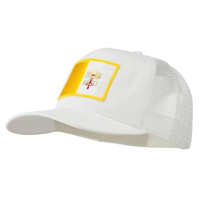 6e2eafba270 E4hats Vatican City Flag Patched Mesh Cap - White OSFM at Amazon ...