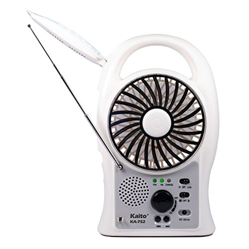 Portable Electric Fan - Kaito 3-in-1 KA752 Rechargeable 5