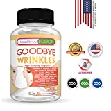 Goodbye Wrinkles - Premium Hydrolized Collagen, Hyaluronic Acid, CoQ10, Alpha-Lipoic Acid, Resveratrol, VIT. E and More – Say Goodbye to Wrinkles – Reveal Hydrated Skin – Extra Strength – 60 Capsules