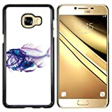 Plastic Shell Protective Case Cover || Samsung C5 || Xray Fish Skeleton Art @XPTECH