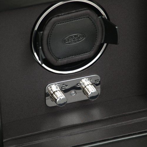 WOLF 270302 Heritage Single Watch Winder with Cover and Storage, Black by WOLF (Image #3)