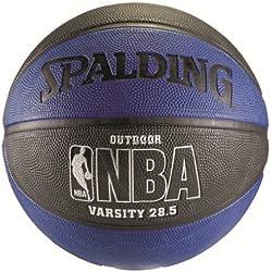 "Spalding NBA Varsity Outdoor Basketball - Blue/Black - Intermediate Size 6 (28.5"")"