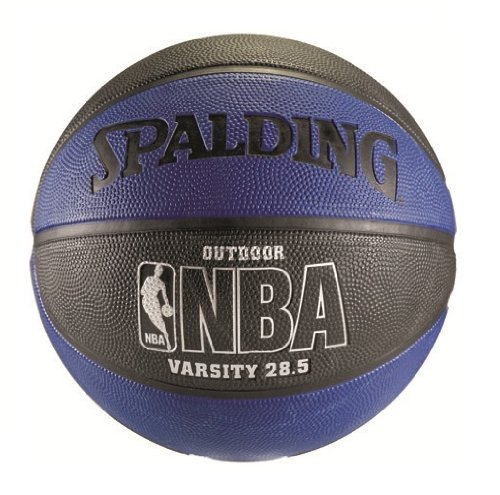 "Spalding NBA Varsity Outdoor Basketball - Blue/Black - Intermediate Size 6 (28.5"")"