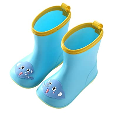 fdd9f486a Kids Wellies ☔Viahwyt Baby Girls Boys Wellingtons Cute Yellow Duck Rain  Boots Rubber Shoes for