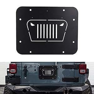 Amazon Com Fits Jeep Wrangler Spare Tire Delete Plate For