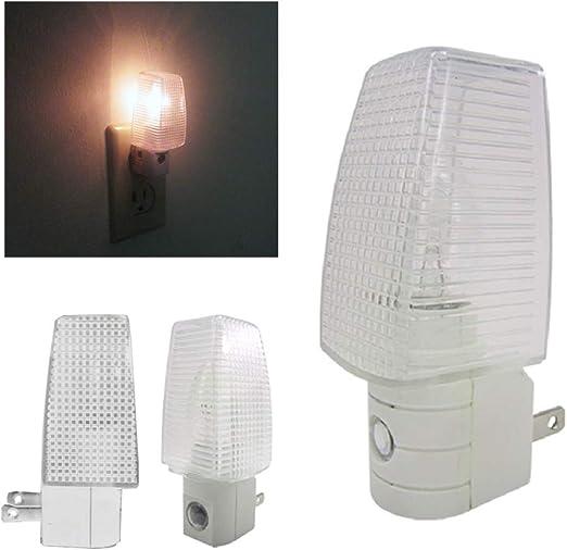 4 Night Light Energy Saving Automatic Sensor Wall Plug In Lite Nightlight Lamp !