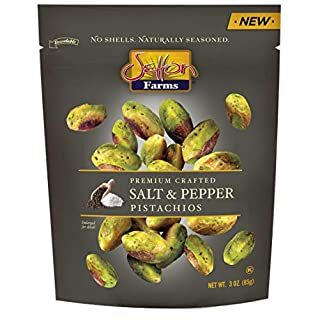 Setton Farms Pistachios Seasoned Kernels, No Shells, Salt and Pepper, 3 oz Resealable Bag