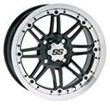 ITP SS216 Wheel - 12x7 - 2+5 Offset - 4/110 - Machined/Black , Bolt Pattern: 4/110, Rim Offset: 2+5, Wheel Rim Size: 12x7, Color: Machined, Position: Rear 1228505404B offers