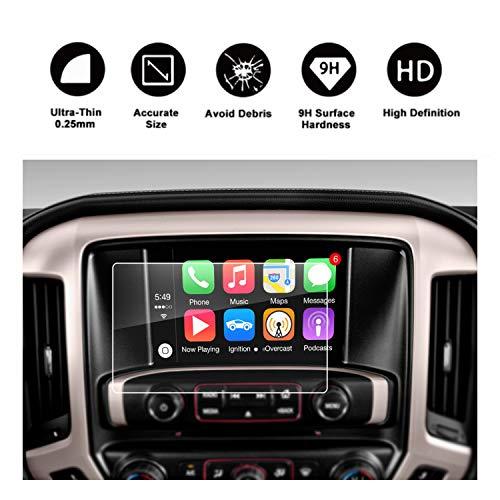 RUIYA 2015 2016 2017 2018 2019 GMC Sierra 1500/2500HD 3500HD INTELLILINK 8-Inch Car Navigation,GMC Infotaintment System HD Clear TEMPERED GLASS Screen Protective Film (8-Inch) ()