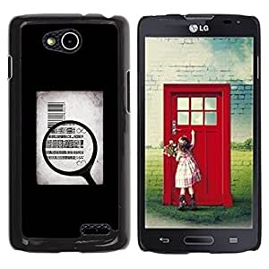 PC/Aluminum Funda Carcasa protectora para LG OPTIMUS L90 / D415 Money Body Sell Symbolic Art Quote / JUSTGO PHONE PROTECTOR