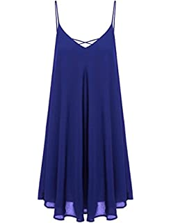 5301d12bb77 Stokeen Plus Size Spaghetti Strap Cover Up Beach Backless Wrap Long Dress
