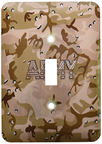 3dRose LLC lsp_130690_1 Desert Gulf War Camouflage with Flag Font Army Single Toggle Switch