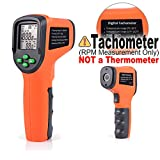 Ehdis 2-in-1 Digital Multi Function Tachometer with Thermometer Non Contact Tach RPM Temperature Meter Batteries Excluded