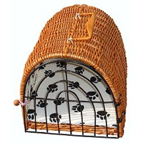 Vital Pet Products Wicker Cat Carrier (17x13x13 inch) (Assorted) (Wicker Pet)