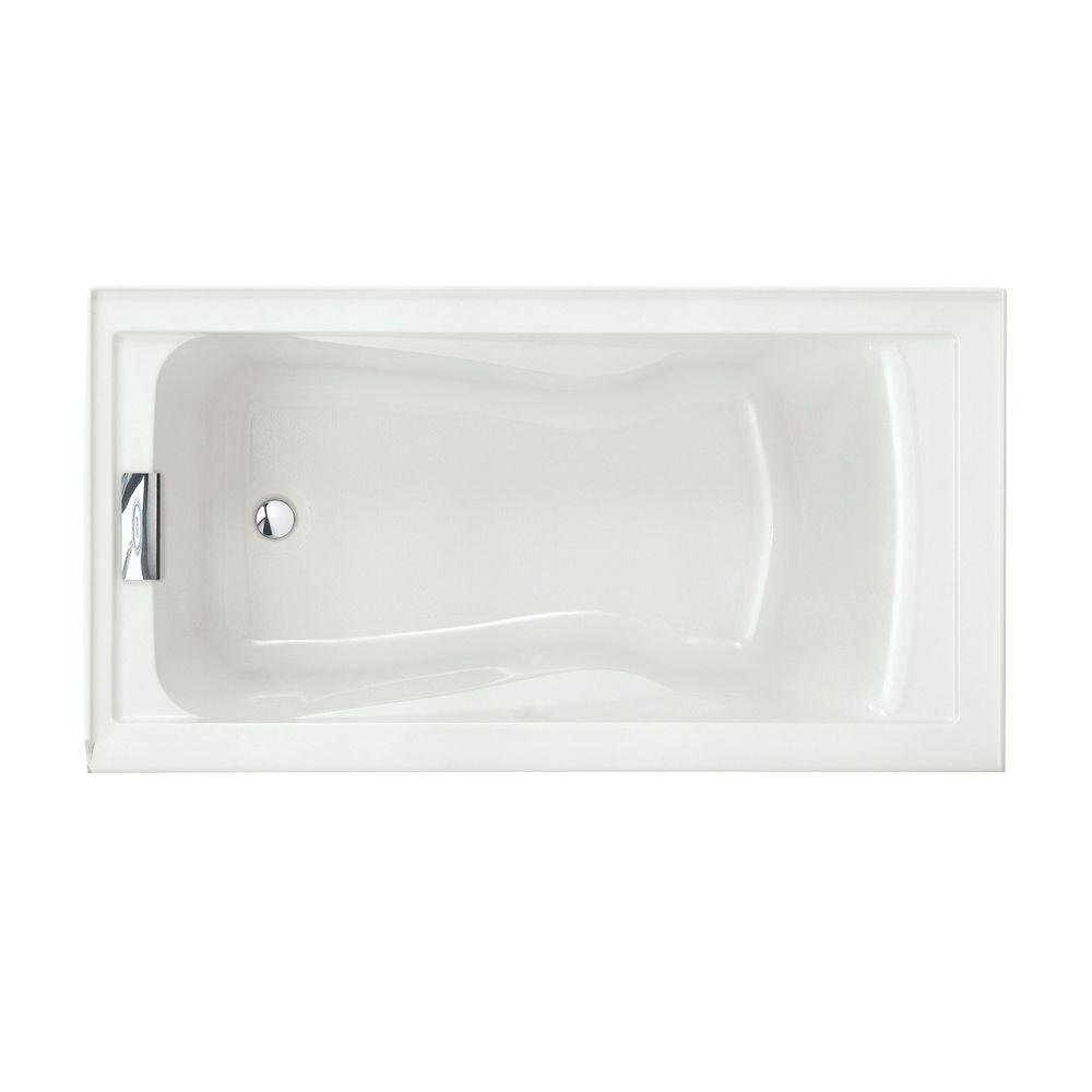 American Standard 2425V LHO002.020 Evolution 5 Feet By 32 Inch Deep Soak  Bathtub With Apron Left Hand Drain Outlet, White   Recessed Bathtubs    Amazon.com
