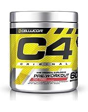 Cellucor C4 Original Pre Workout Powder Energy Preworkout, Fruit Punch, 60 Servings - Pre-Workout Supplement for Men and Women