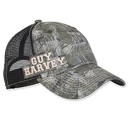 - Guy Harvey Marlin Camo Trucker Cap with Embroidered Signature