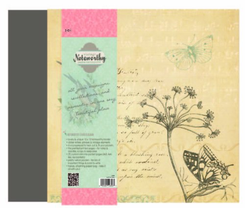 Sew Easy Industries 3-Ring Noteworthy Creative Memory Journal, 12 by 12-Inch, Vintage by Sew Easy Industries